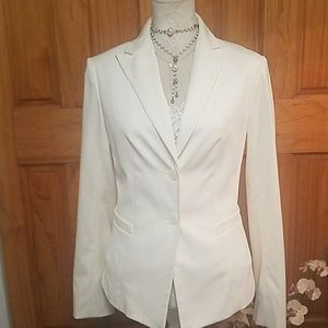 The Limited white woman's jacket